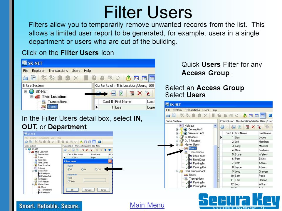 Filter Users