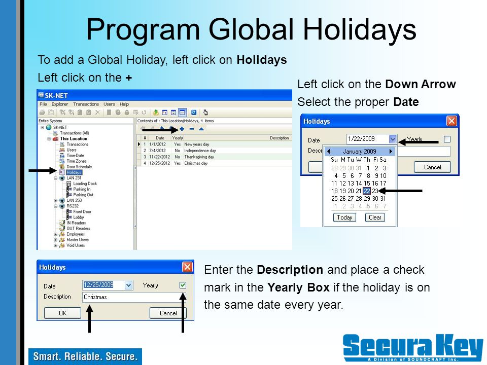 Program Global Holidays
