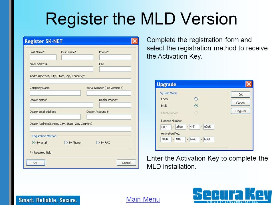 Register the MLD Version