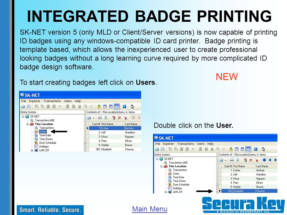 INTEGRATED BADGE PRINTING