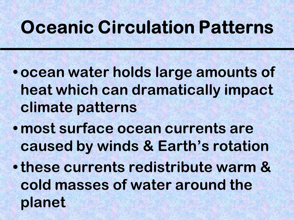 Oceanic Circulation Patterns