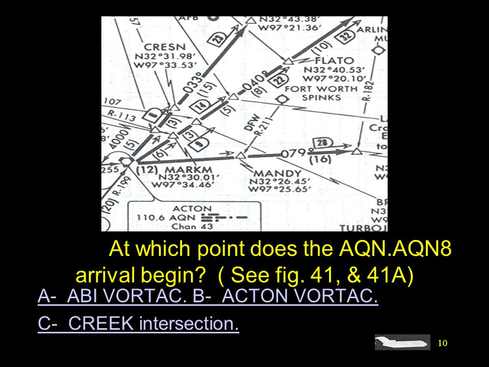 #4292. At which point does the AQN. AQN8 arrival begin. ( See fig