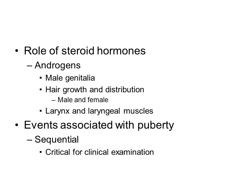 Role of steroid hormones