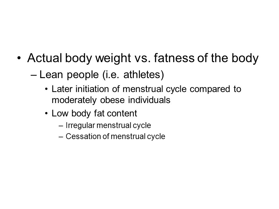Actual body weight vs. fatness of the body