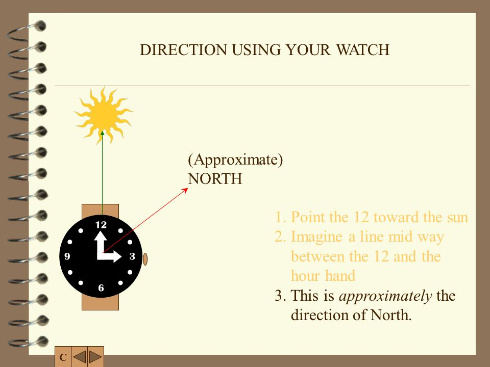 DIRECTION USING YOUR WATCH