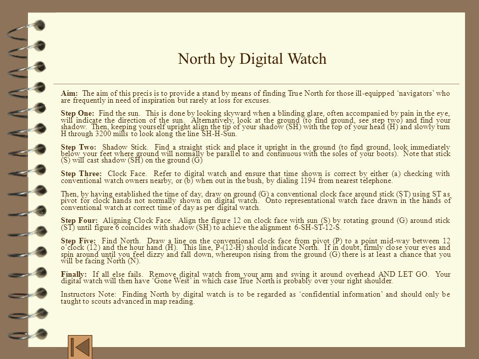 North by Digital Watch