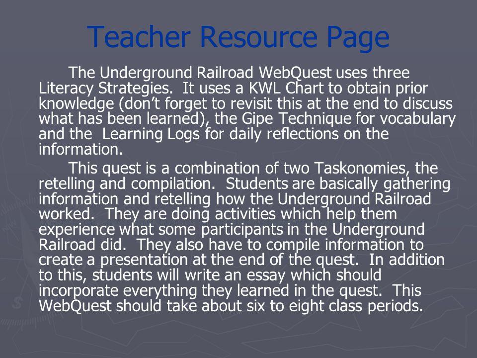 Teacher Resource Page