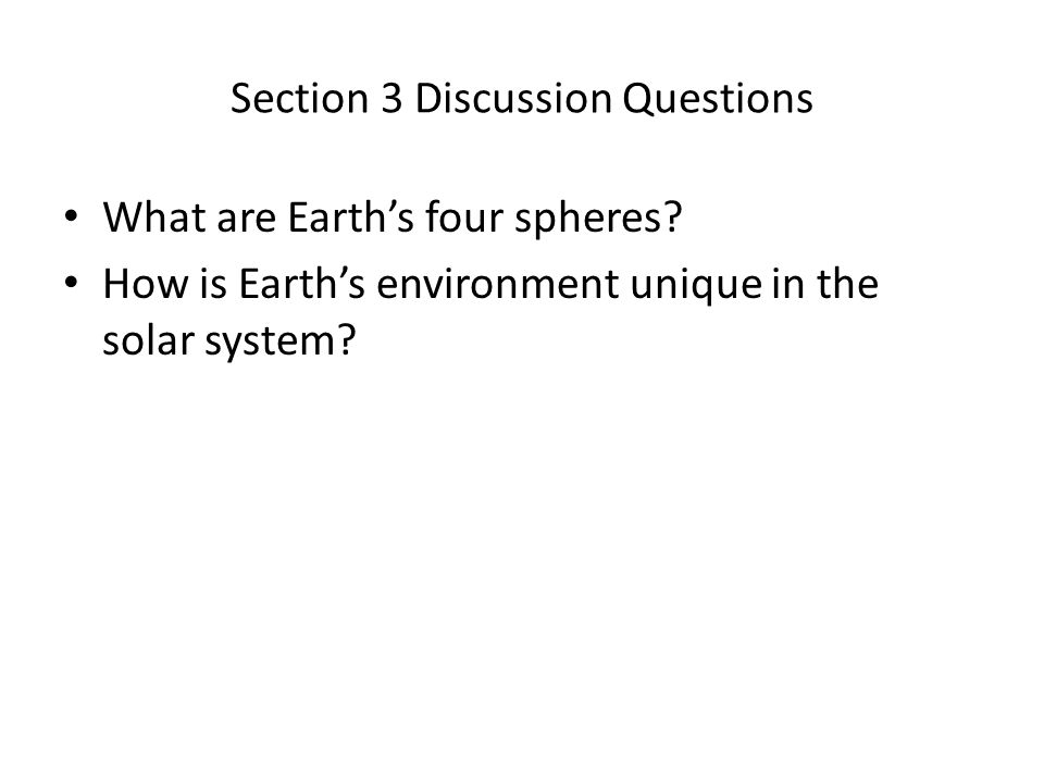 Section 3 Discussion Questions