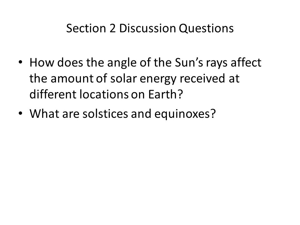 Section 2 Discussion Questions