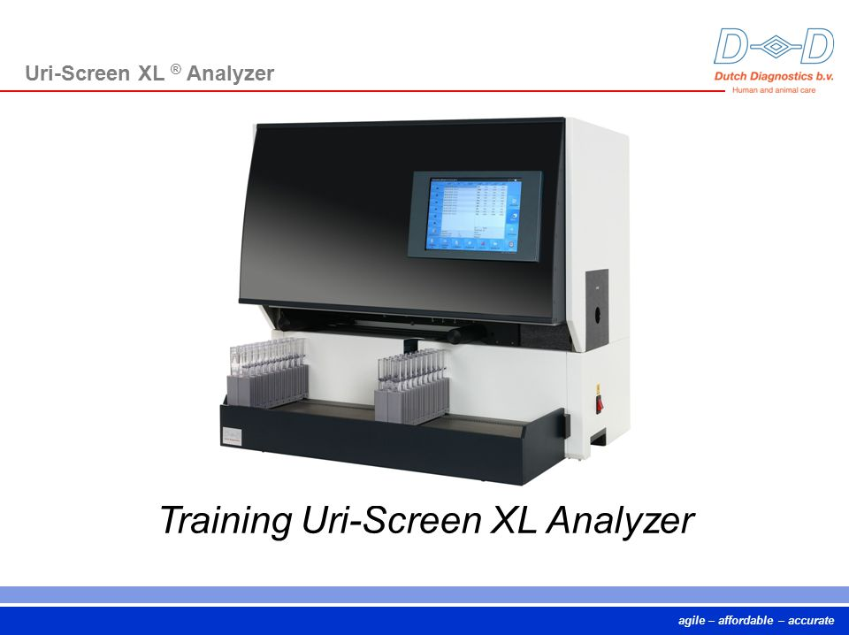 Training Uri-Screen XL Analyzer