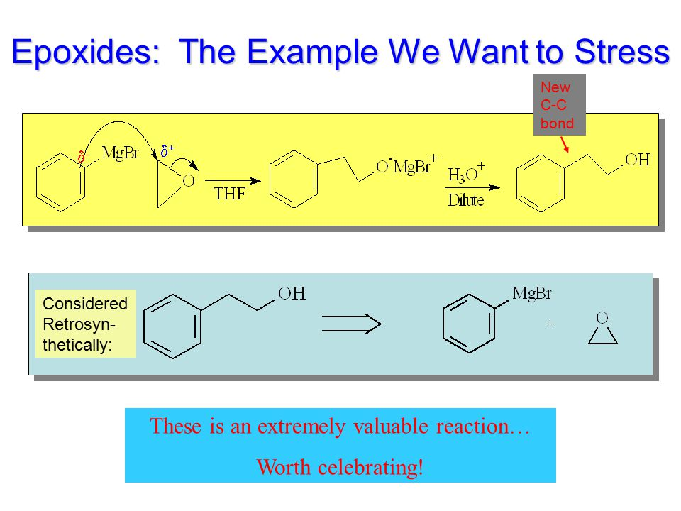 Epoxides: The Example We Want to Stress