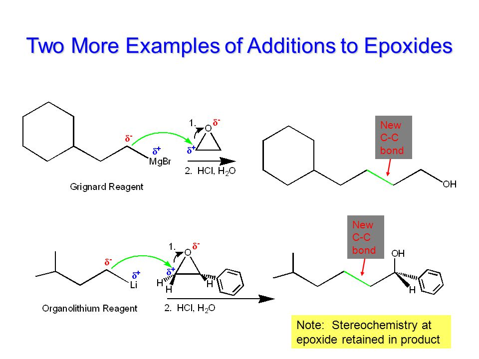Two More Examples of Additions to Epoxides