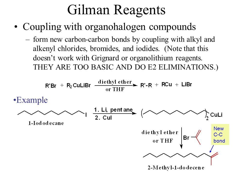 Gilman Reagents Coupling with organohalogen compounds Example