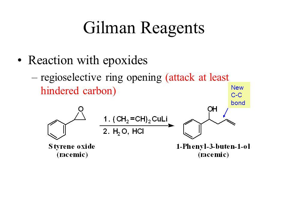 Gilman Reagents Reaction with epoxides