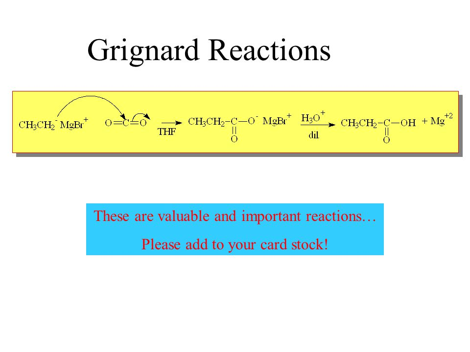 Grignard Reactions These are valuable and important reactions…