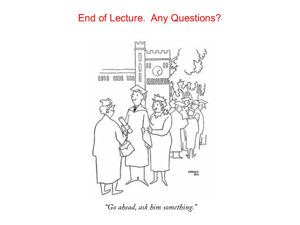 End of Lecture. Any Questions