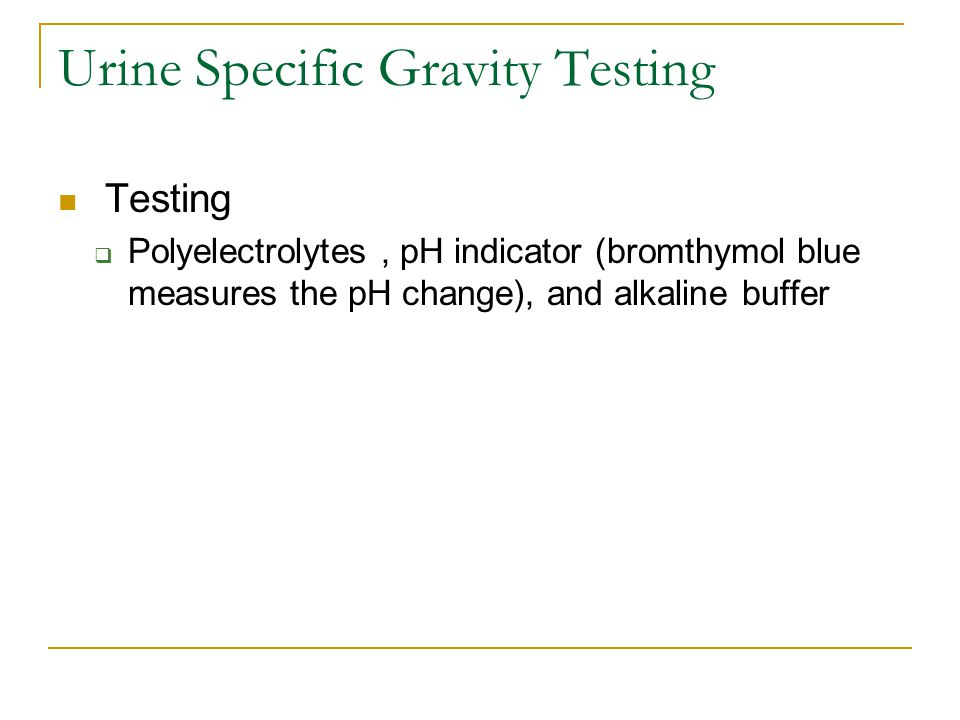 Urine Specific Gravity Testing