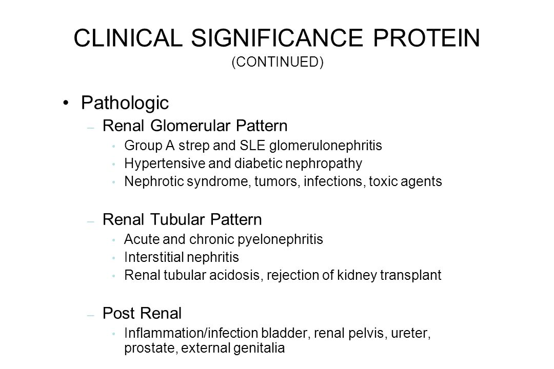 CLINICAL SIGNIFICANCE PROTEIN (CONTINUED)