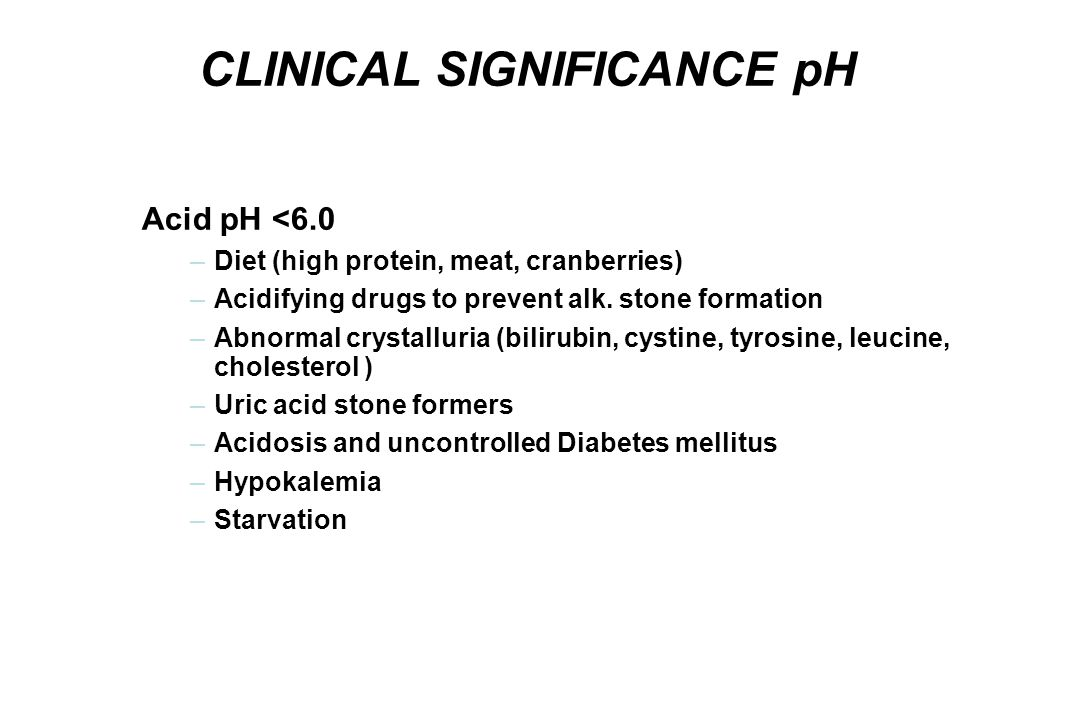 CLINICAL SIGNIFICANCE pH
