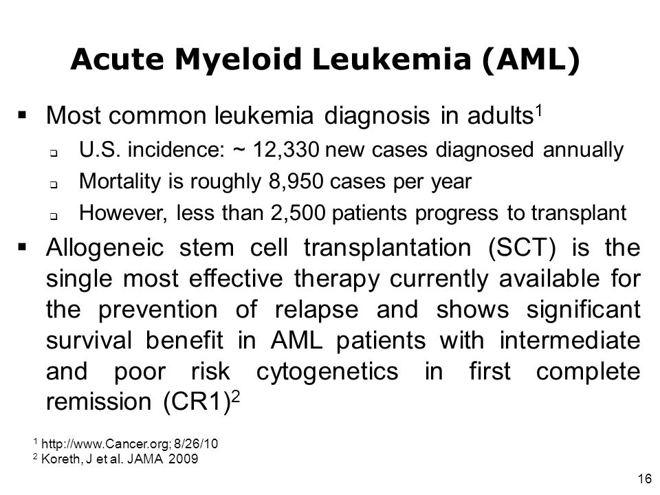 A Case Report of Acute Myeloid Leukemia and ...