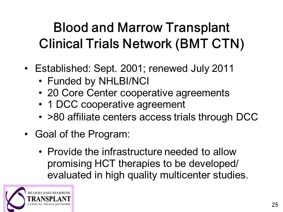Blood and Marrow Transplant Clinical Trials Network (BMT CTN)