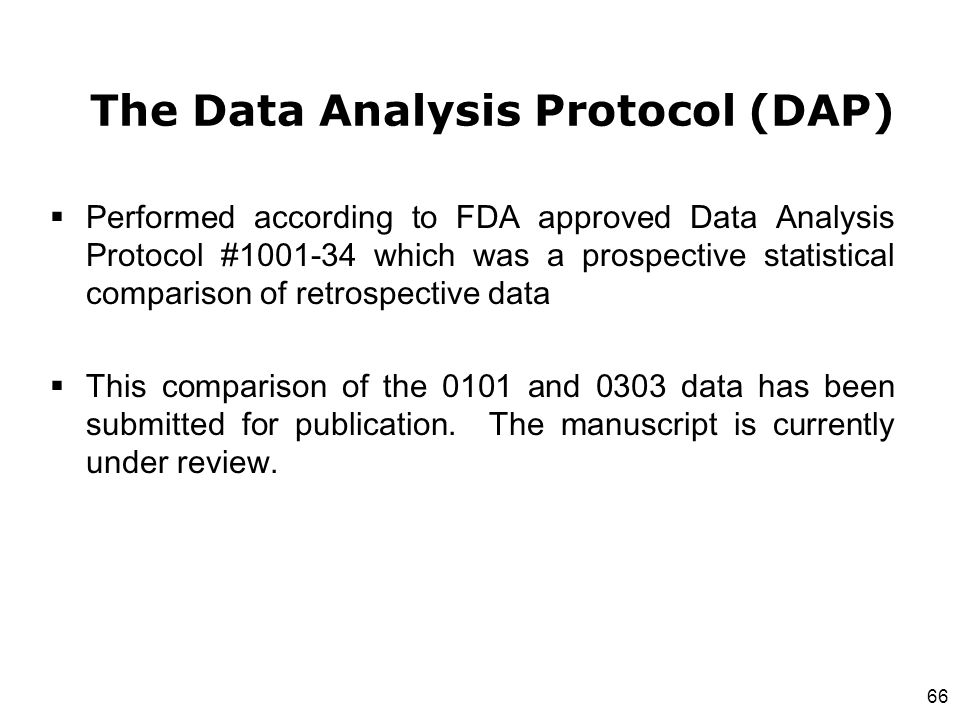 The Data Analysis Protocol (DAP)