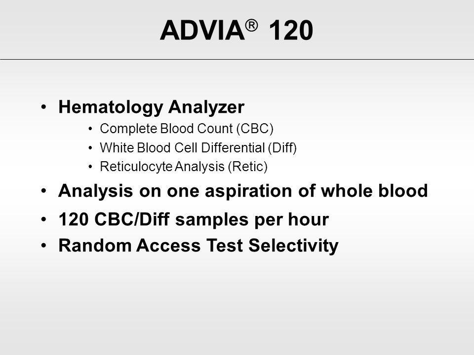 ADVIA 120 Hematology Analyzer