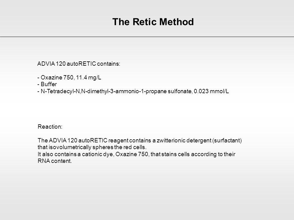 The Retic Method ADVIA 120 autoRETIC contains: