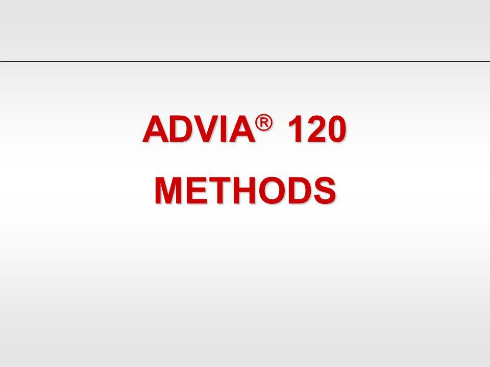 ADVIA 120 METHODS