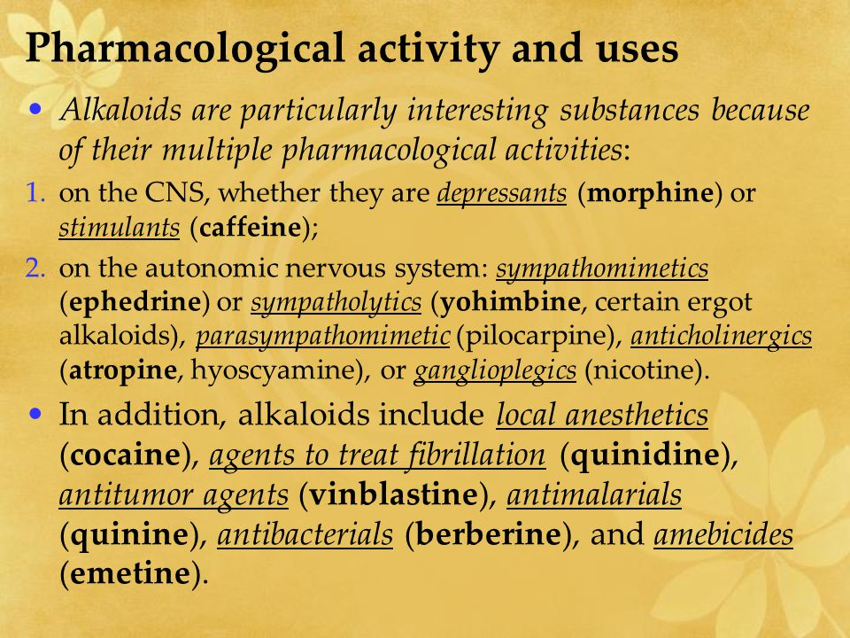 Pharmacological activity and uses