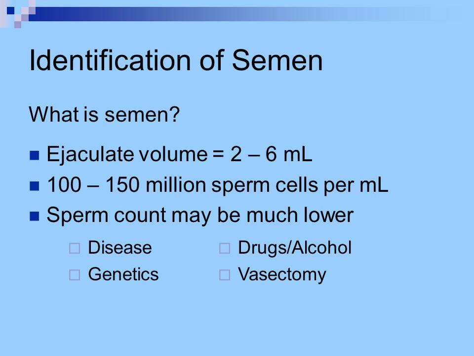 Identification of Semen