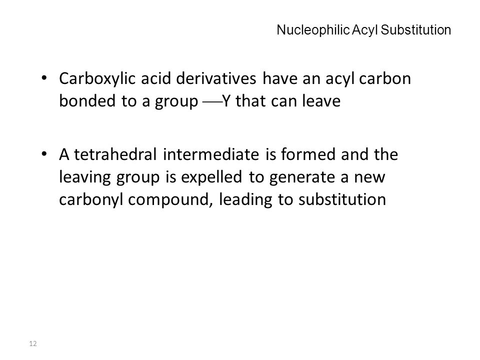 Nucleophilic Acyl Substitution