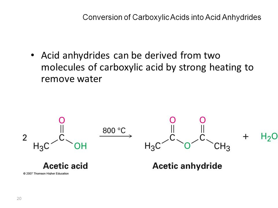 Conversion of Carboxylic Acids into Acid Anhydrides