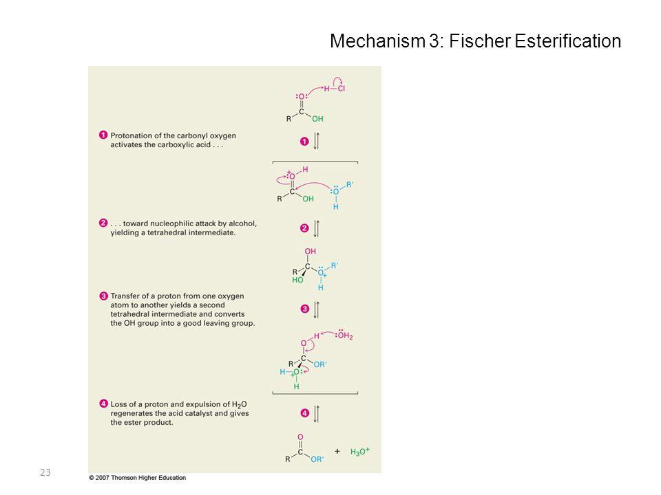 Mechanism 3: Fischer Esterification