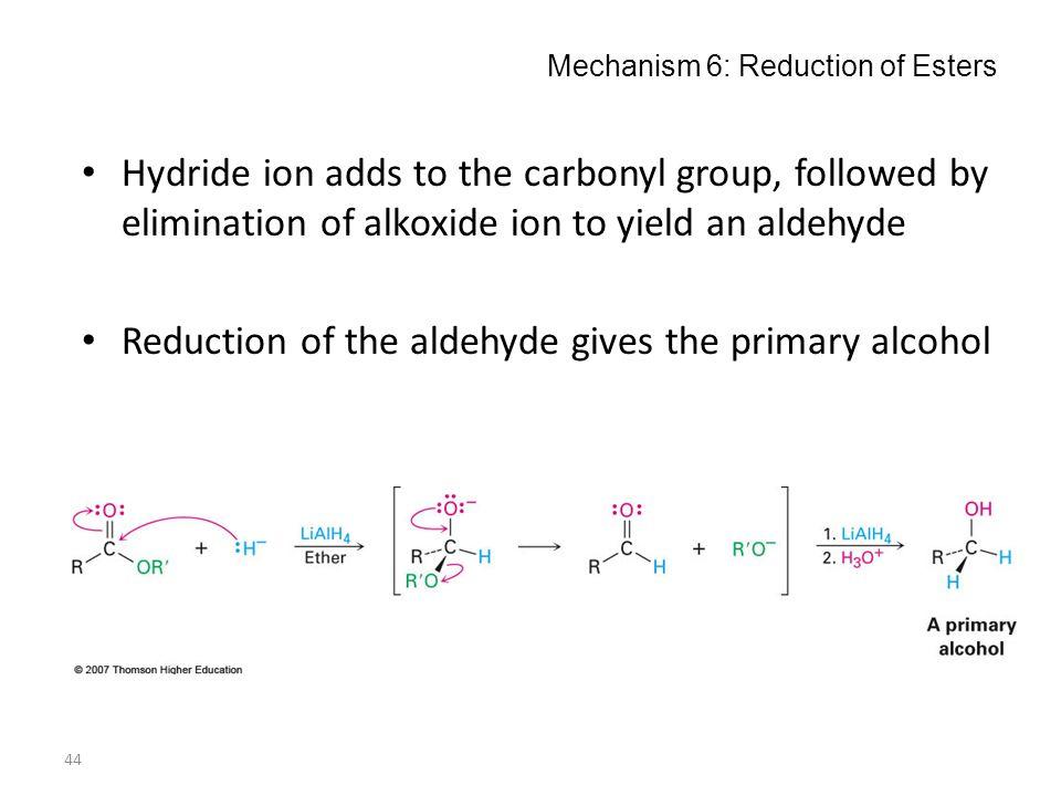 Mechanism 6: Reduction of Esters