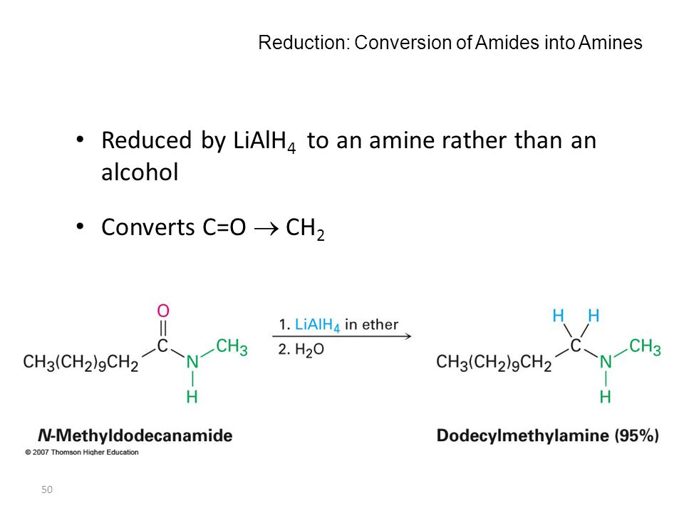Reduction: Conversion of Amides into Amines