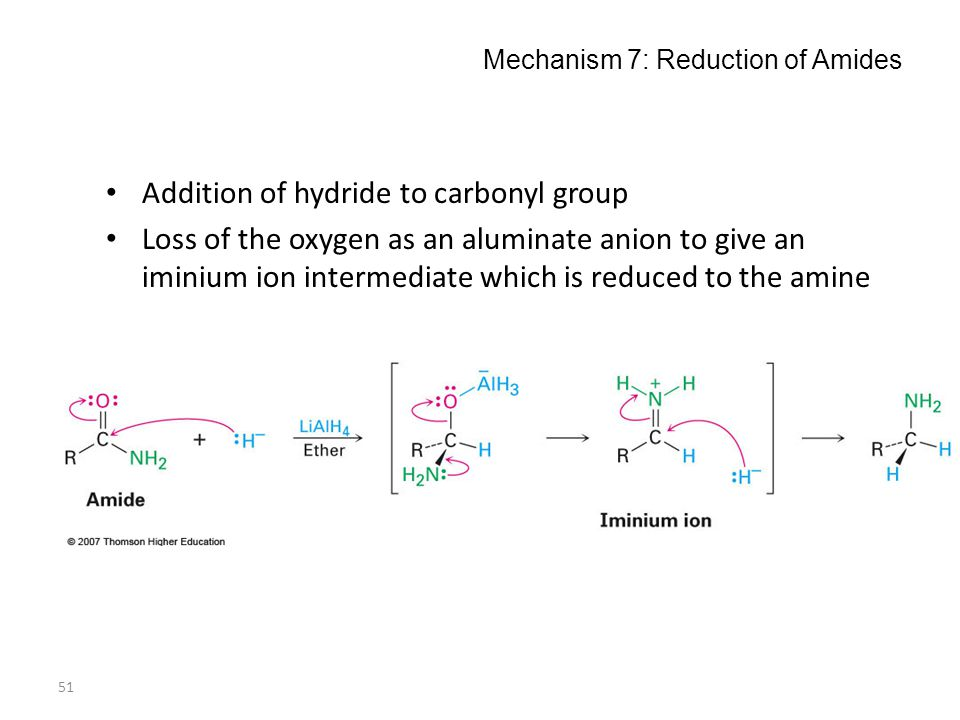 Mechanism 7: Reduction of Amides