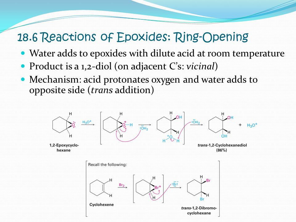 18.6 Reactions of Epoxides: Ring-Opening