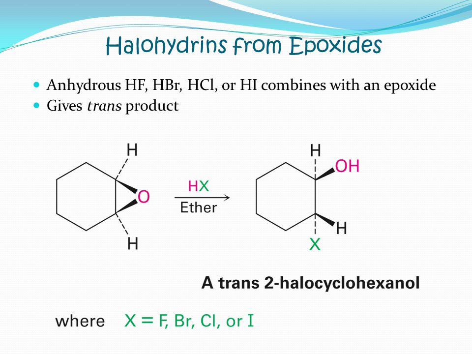 Halohydrins from Epoxides