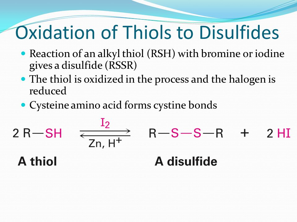 Oxidation of Thiols to Disulfides