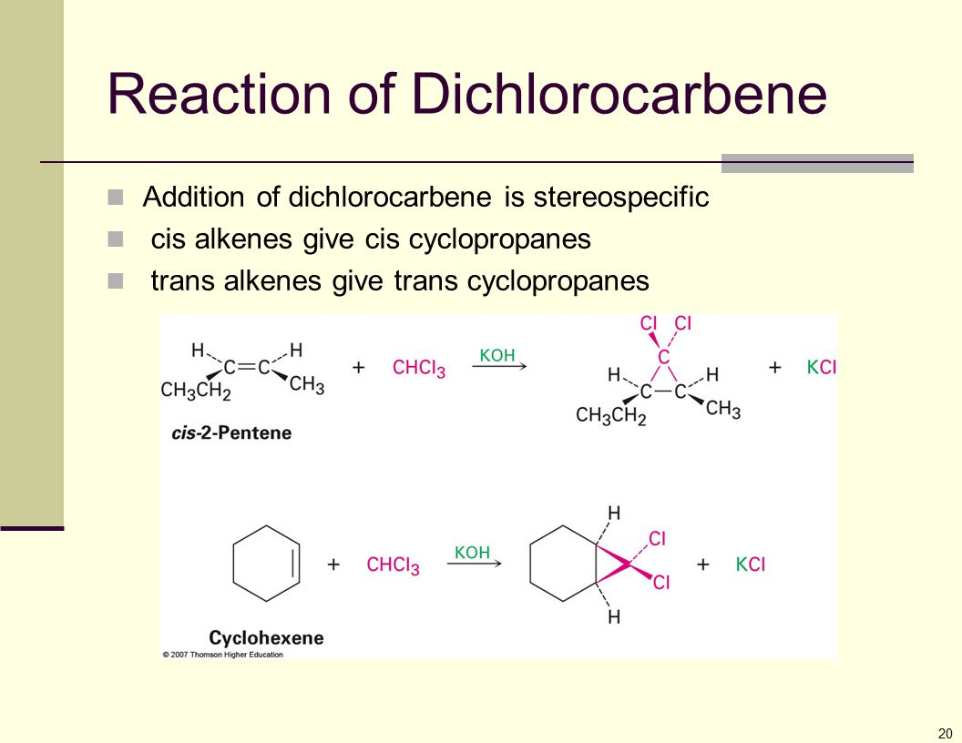 Reaction of Dichlorocarbene
