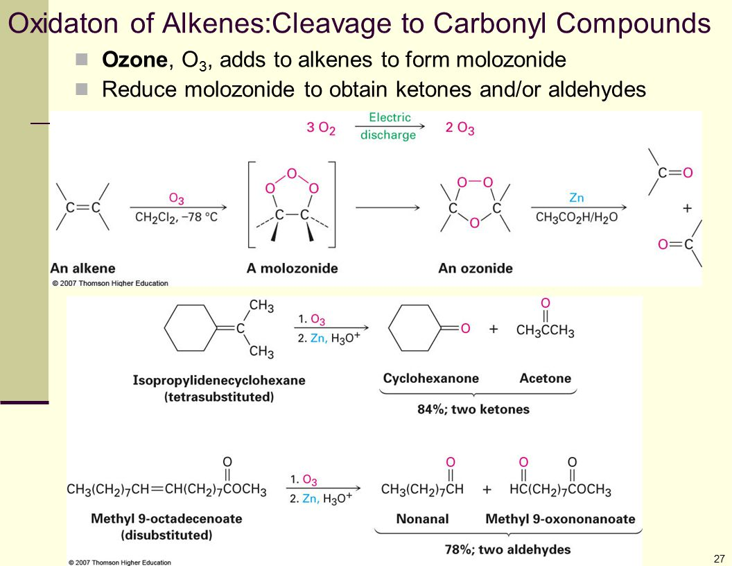 Oxidaton of Alkenes:Cleavage to Carbonyl Compounds