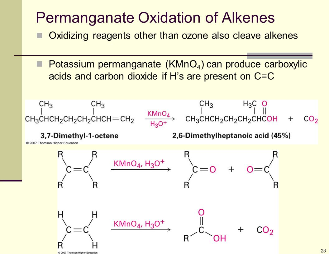 Permanganate Oxidation of Alkenes