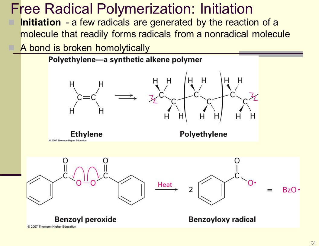 Free Radical Polymerization: Initiation