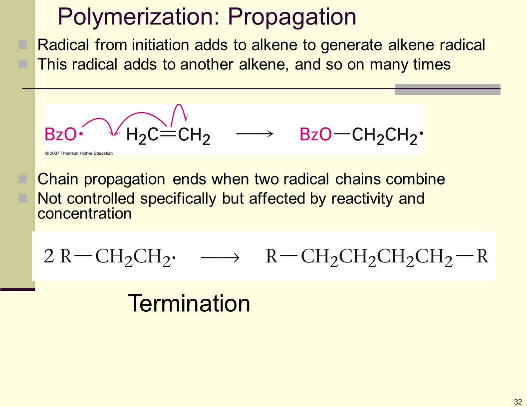 Polymerization: Propagation