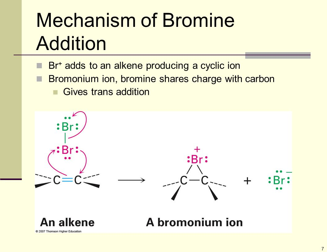 Mechanism of Bromine Addition