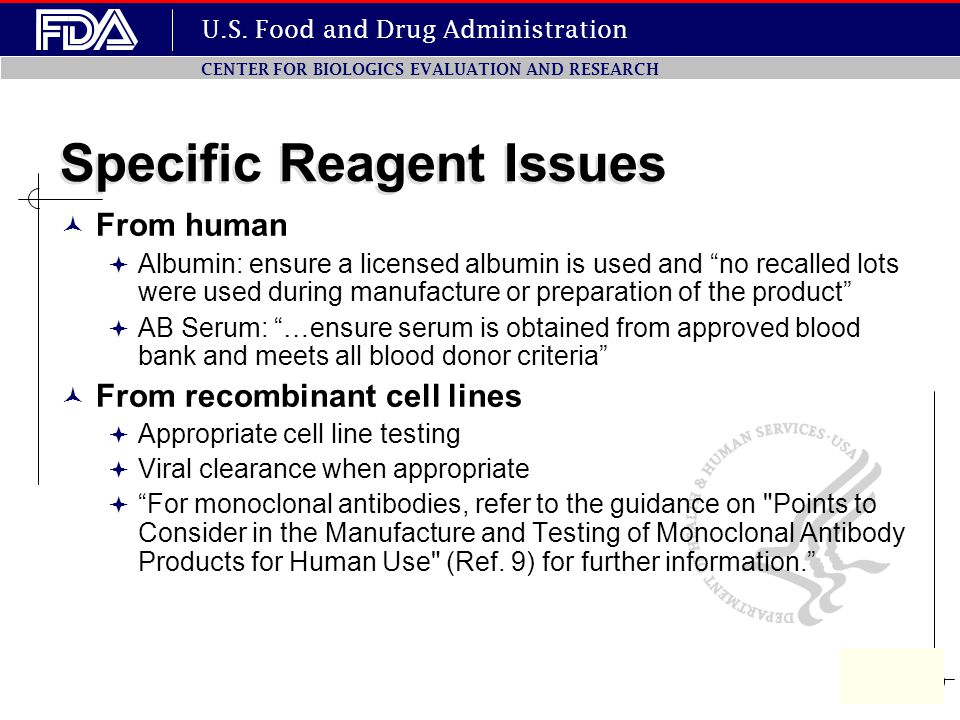 Specific Reagent Issues