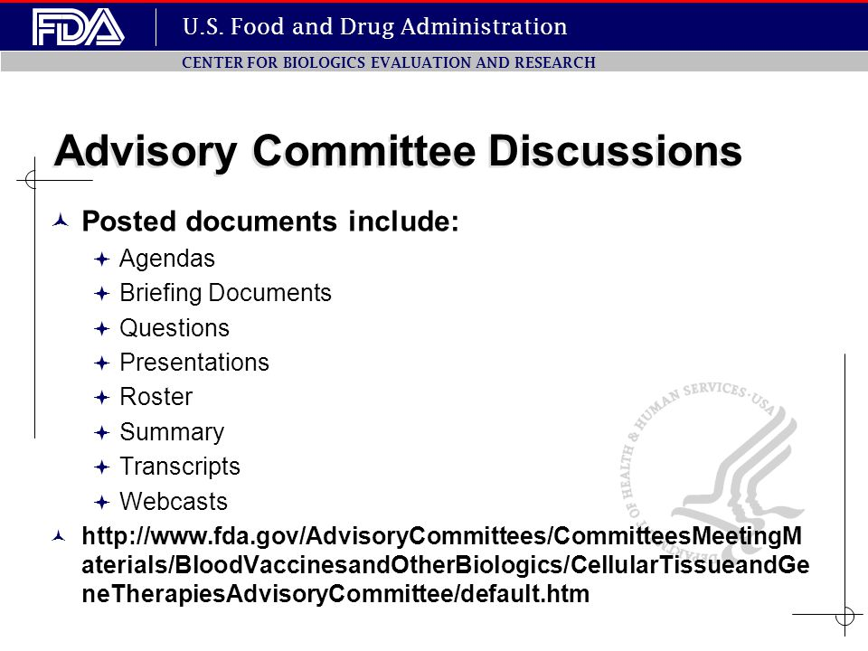 Advisory Committee Discussions