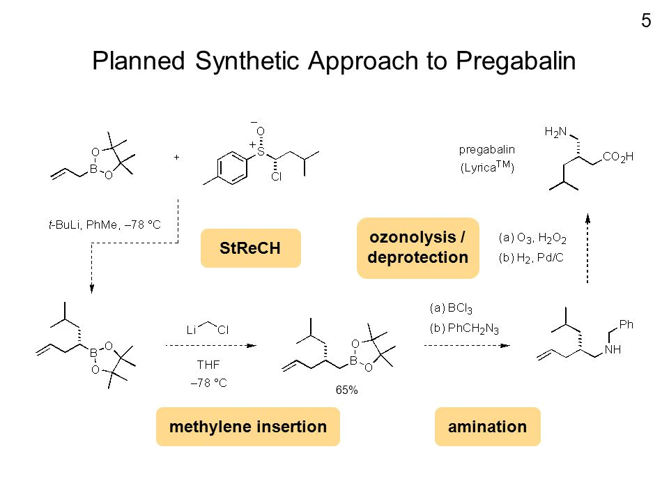 Planned Synthetic Approach to Pregabalin