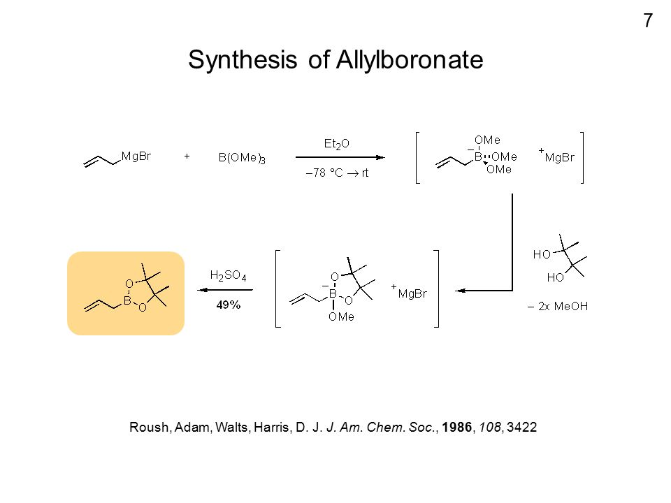 Synthesis of Allylboronate